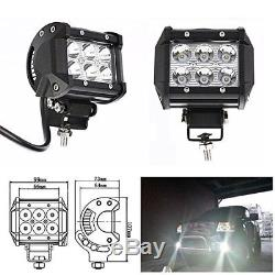 Upper 52 inch Curved LED Light Bar + 2X PODS 18w +Wire Kit For Land Rover SUV
