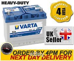 Varta E24 Heavy Duty High Performance 069 / 072 12V 70Ah Car Battery 4 Yr Wnty