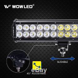 WOW 180W 28 CREE LED Work Light Bar Combo Offroad Truck Lamp Light + Wiring