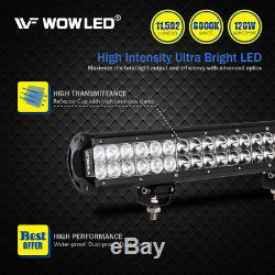 WOW 20 Inch 126W CREE LED Spot Flood Work Roof Light Bar Offroad + Wiring Kit