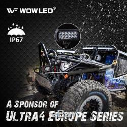 WOWLED 2 X 7 36W CREE LED Work Light Offroad Spotlight Truck SUV Boat ATV 4X4
