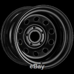 X4 16x10 ET-32 BLACK DEEP DISH MODULAR STEEL WHEELS DISCOVERY 2 5x120